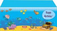 Underwater birthday theme Underwater scene rectangle table cover