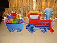 Vehicles birthday theme Goods train poster