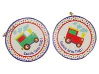 Vehicles birthday theme Badge