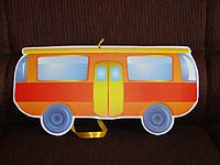 Vehicles birthday theme Town bus cutout