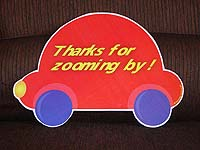 Vehicles birthday theme Red car cutout