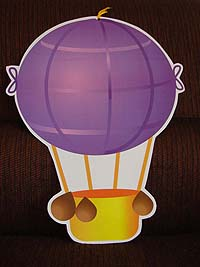Vehicles birthday theme Hot air balloon poster