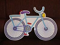 Vehicles birthday theme Bicycle poster