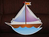 Vehicles birthday theme Sail boat cutout