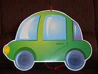 Vehicles theme Green car posters