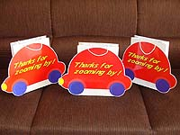 Stickered gift bags - Vehicles theme birthday party supplies