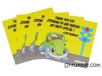 Vehicles theme Thank you cards
