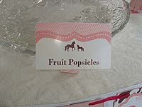 Food labels - Vintage Pony