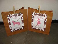 Vintage Pony theme Stickered gift bags