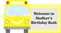 Wheels on a bus theme Yellow Bus welcome banner