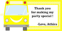 Thank you cards - Wheels on a bus