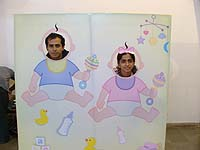 Photo Booth - Pink & Blue Baby Shower