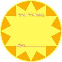 My Sunshine theme Wish tree tags (Pack of 10)