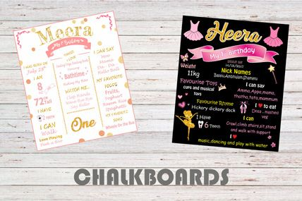 Customized Chalkboard posters for kids birthdays