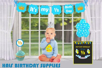 1/2 Birthday decorations for boys & girls