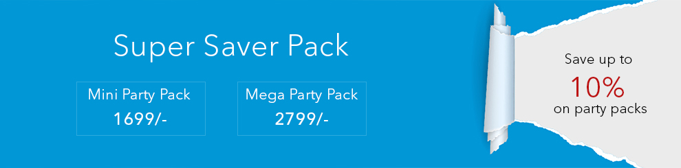 Save more with Discounted House Party Kits for Frozen theme birthday party !