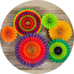 Paper fan decorations for birthdays
