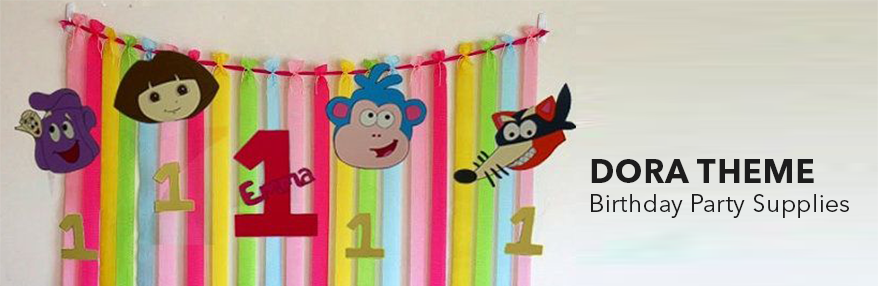 Dora theme birthday party supplies