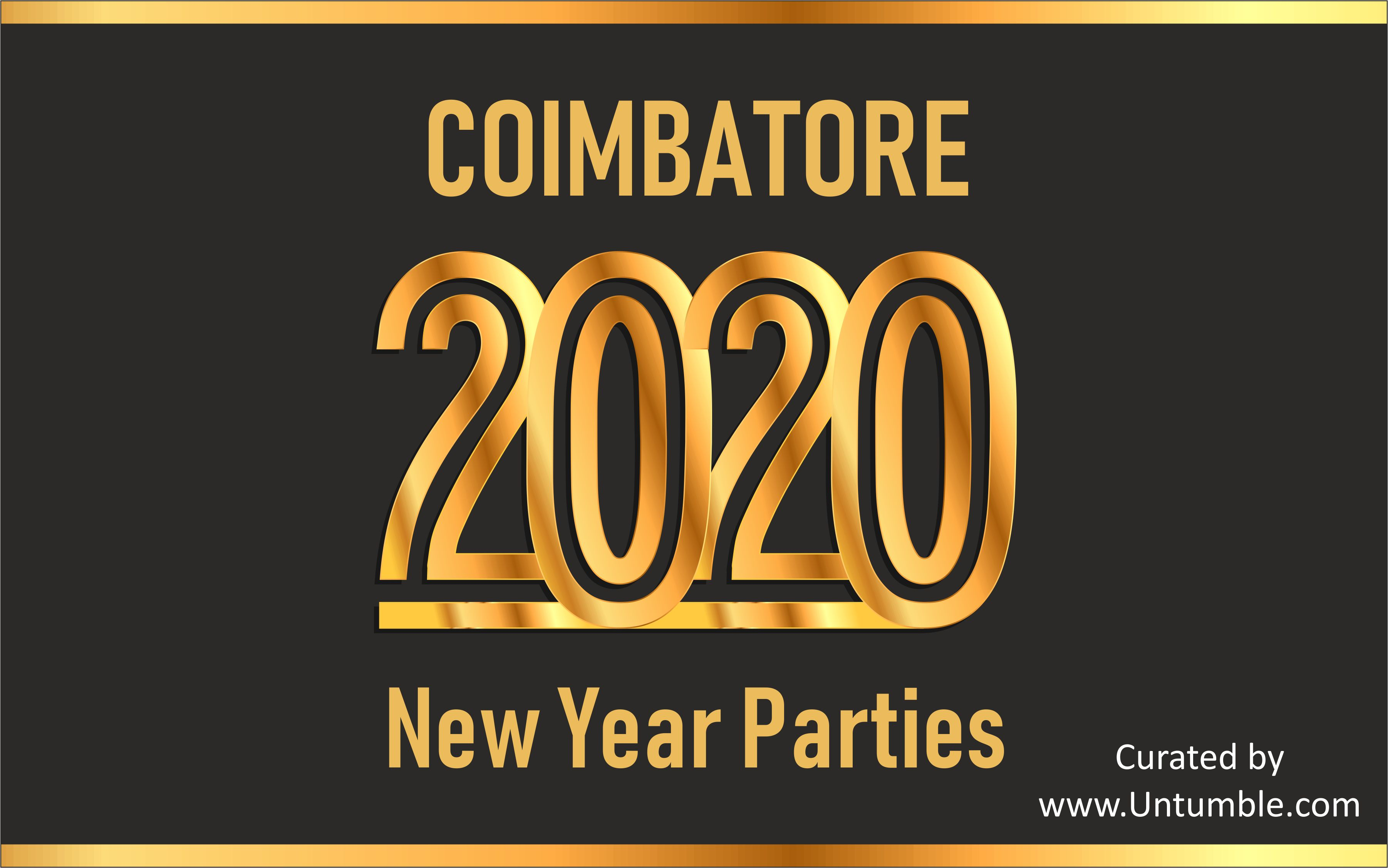 List of New Year 2020 Parties/Events in Coimbatore