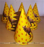 Dinosaur party hats for the Rawr... Party