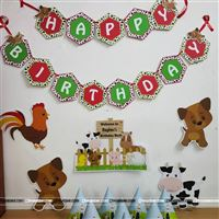 Farm animal and barnyard party decoration to make your baby
