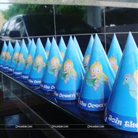 Mermaid party hats for your under the sea party. Little mermaid party caps for your child