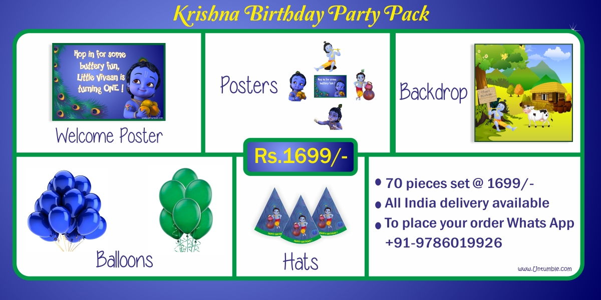 Krishna theme birthday party supplies