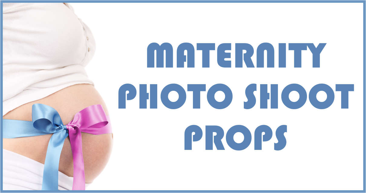 Maternity photo shoot props