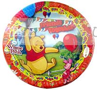 Birthday Party Plates - Winnie The Pooh Theme Birthday Party