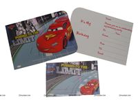 Disney Cars theme CARS DIE-CUT INVITATION & ENVELOPES