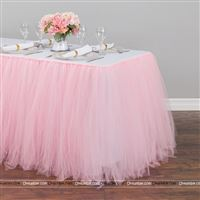 Pink tutu table skirt