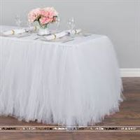 White tutu table skirt