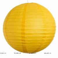 10Inch Yellow Paper Lanterns