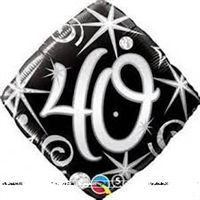 Fab at 40 ! theme 40th Birthday Foil Balloon