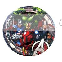 Superhero theme Avengers Birthday Party Plates