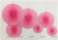 Baby Pink Paper Fan Decoration