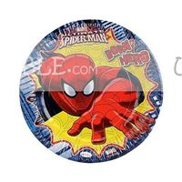 Spiderman Birthday Party Plate