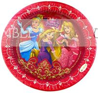 Princess theme  - Princess Birthday Party Plate