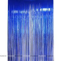Blue 3x6 foil curtains (set of 2)