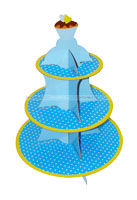 Party Supplies theme Cup Cake Stand - Blue