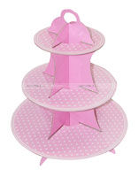 Party Supplies theme Cup Cake Stand - Pink