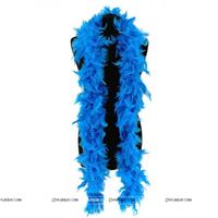 Feather Boa Garland Blue