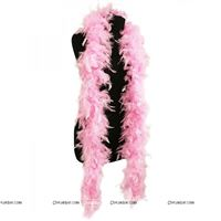 Feather Boa Garland Pink