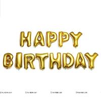 Happy Birthday Letters Foil balloon Gold (Set of 13 Alphabets)