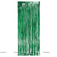Green 3x6 foil curtains (set of 2)
