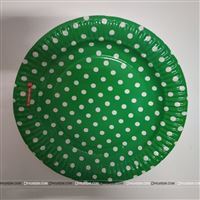 Green and white Polka - Birthday Party Plates