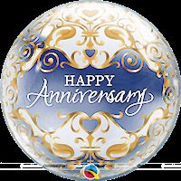 Happy Anniversary Transparent Bubbles Foil Balloon