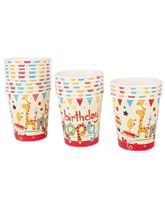 Jungle Birthday Supplies theme Happy Birthday Animal Cups