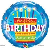 Happy Birthday Candle Foil balloon