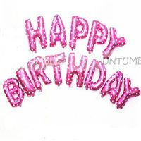 Happy Birthday Letters Foil balloon Pink (Set of 13 Alphabets)